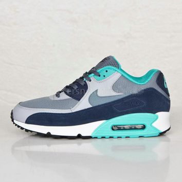 NIKE AIR MAX 90 Nike fashion ladies men running sports shoes sneakers F-PS-XSDZBSH Navy blue + lake blue-1
