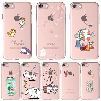 Thick Soft Silicon Cover Case For Apple iPhone 6 6S Cases iPhone6S Phone Shell Painted Lovely Sailor Moon Naughty Kitten