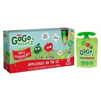 Gogo Squeez Apple Strawberry Applesauce On The Go Pouches - 3.2oz 12ct