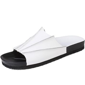 Fashion Casual Men Slippers Male Leisure Beach Shoes Luxury Sapato Masculino Slides White Summer Zapatos De Los Hombres Sandals
