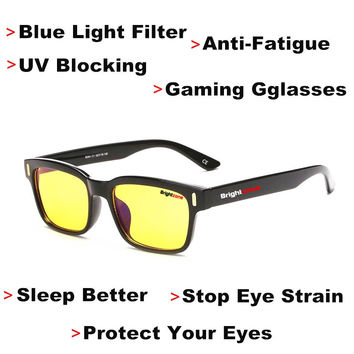 Anti-Fatigue UV Blocking Blue Light Filter Stop Eye Strain Protection Gaming Glasses