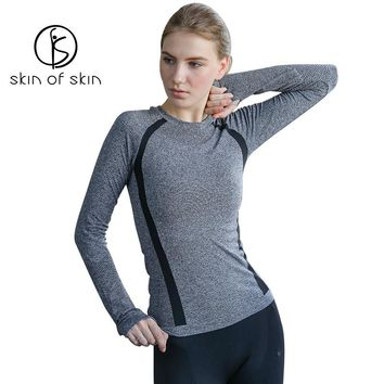 Screaming Retail Price Women Fitness Gym Running Sporty T-Shirt Lady Stretch Soft Long Sleeve Sports Yoga Tops Quick Dry Shirts