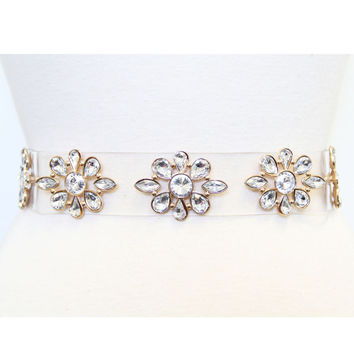 Clear Vinyl Daisy Belt