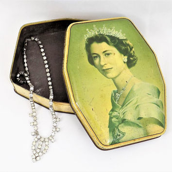 George W. Horner & Co. Ltd. Tin, Coronation of H.M. Queen Elizabeth II, 1953, Collectible Tins