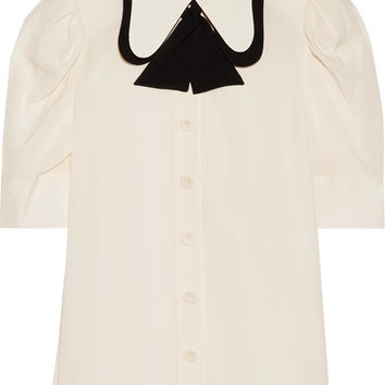 Chloé - Two-tone silk crepe de chine blouse