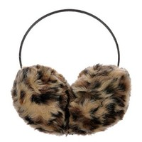 ZLYC Women Fashion Leopard Print Faux Fur Earmuffs Earwarmer Winter Accessory