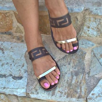 meander sandals,ancient greek sandals,leather sandals,womens shoes,greek sandals,handmade sandals,gifts,sandals,womens sandals