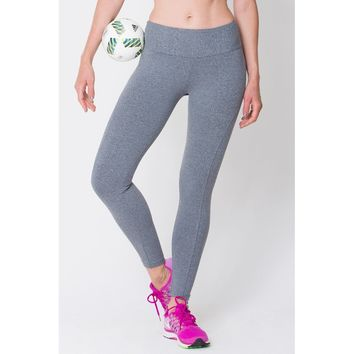 Heather Grey Riding Seam Legging