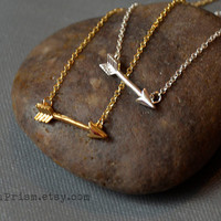 Arrow Charm Pendant / Gold or Silver Chain Necklace / Dainty Delicate necklace / Simple Necklace | Arrow Charm necklace