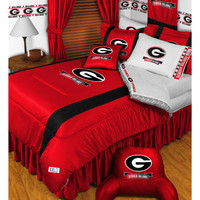 NCAA Georgia Bulldogs Comforter Pillowcase College Bedding: Queen