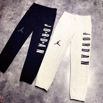Jordan Fashion Embroidery Sport Drawstring Pants Trousers Sweatpants