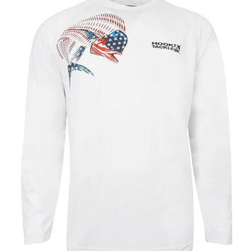 Men's American Dolphin Vented L/S UV Fishing Shirt