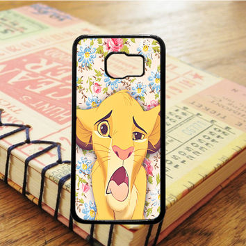 Simba King Of Lion Cartoon Samsung Galaxy S6 Case