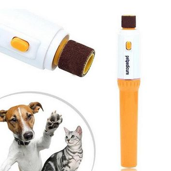 Durable Professional Pet Dog Puppy Cat Electric Toe Nail Grooming Trimmer Grinder Scissor Kit