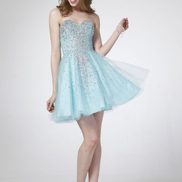 PRIMA C1519 Jeweled Homecoming Cocktail Dress
