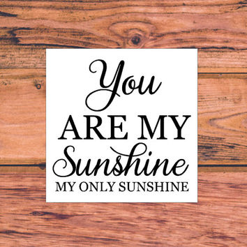 You Are My Sunshine My Only Sunshine Decal | Sunshine Decal | Preppy Southern Sassy Decal | Daughter Decal | Family Decal | Love Decal | 329