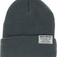 Grizzly Certified Fold Beanie Grey