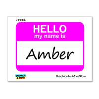 Amber Hello My Name Is Sticker