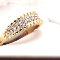 14K Vintage Diamond Band Ring