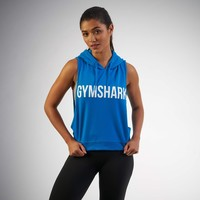 Gymshark Sleeveless Hoodie - Blueberry