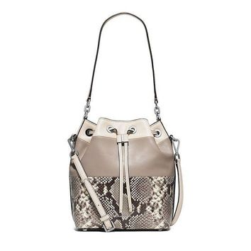 DCCKUG3 MICHAEL Michael Kors Dottie Large Bucket Bag (Natural/Snake)