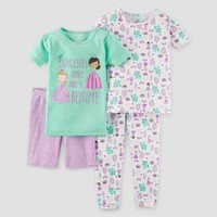 Baby Girls' Snug Fit Cotton 4pc Pajama Set - Just One You™ Made by Carter's® Mint