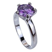 SZ 6/7/8/9/10/11/12 Engagement Jewelry Wedding CZ Purple Crystal Ring
