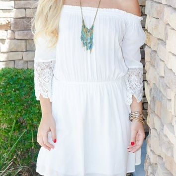 Woven Lace Dress