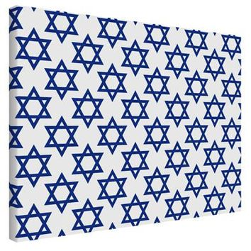 Stars of David Jewish Printed Canvas Art Landscape - Choose Size by TooLoud