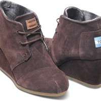 Chocolate Suede Women's Desert Wedges