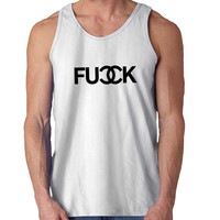 Fuck Chanel Logo For Mens Tank Top Fast Shipping For USA special christmas ***