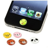 SODIAL- 6 Pieces Home Button Sticker compatible with Apple® iPhone® / iPad® / iPod touch®, Animal