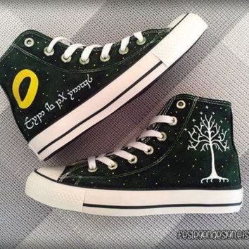 DCKL9 Your Name in Elvish 'Custom Converse' / the Lord of the Rings / Elf