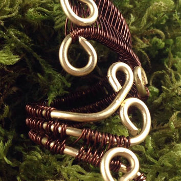 Adjustable copper and brass ring