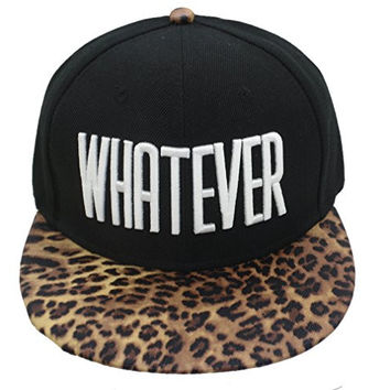 Winter Black Whatever Beanie Hat and Snapback Men and Women Winter Cap