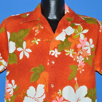 60s Diane's of Honalulu Hawaiian Aloha shirt Large