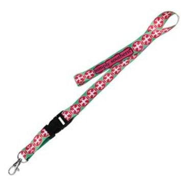 Simply Southern Preppy Lanyard Keychain in Cross Pattern