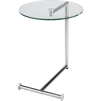 Morrison End Table Glass & Chrome