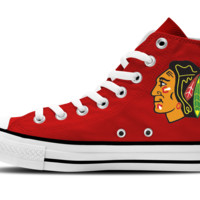 Chicago Blackhawks Hi-Top Unisex Sneakers