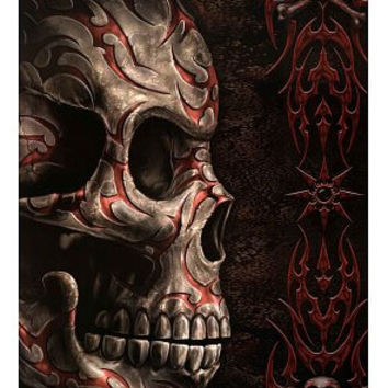 Skull With Tattoo Wall Luxary Home Decoration Fashion Custom FREE SHIPPING Poster Print Size(40x60)cm Wall Sticker