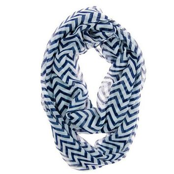 ONETOW Hot Autumn Winter  Women Infinity Chevron Zig Zag Color Block Double Loop Sheer Scarf Wrap Shawl For Women WAug29