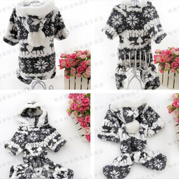 Snowflake Soft Fleece Dog clothes costume Yorkshire Chihuahua dog clothing small puppy dog coat pet clothes