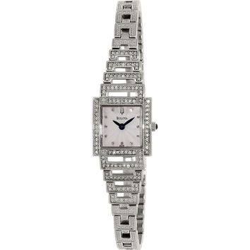 Bulova 96L140 Women's Dress Silver Dial Quartz Crystal Watch