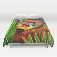 Henri Rousseau Mandrill In The Jungle Duvet Cover by Art Gallery