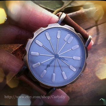 Handmade retro leather neutral watches, men's and women's watch, the best friendship gifts, Christmas gifts