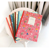 Indigo Willow story pattern free lined notebook