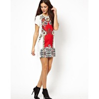 2014 Newest Summer Brand European&American Women Vintage Red Prints O Neck Short Sleeve Dress,Ladies Fashion Cute Dress q189-in Dresses from Women's Clothing & Accessories on Aliexpress.com | Alibaba Group