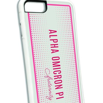 Alpha Omicron Pi iPhone Case White