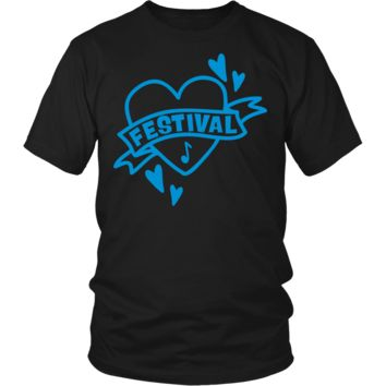 Funny Festival Heart Tattoo Lovers Gifts T-Shirts For Men Women Kids