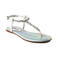Womens Shi by Journeys Fresh Breeze Sandal, White Silver  Journeys Shoes